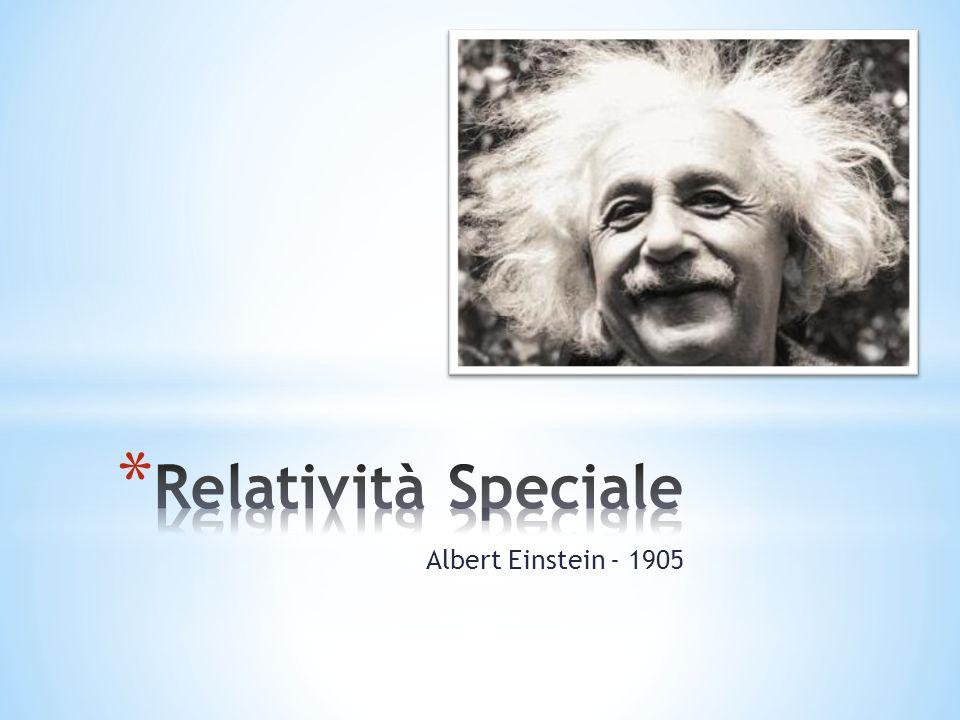 Relatività Speciale Albert Einstein - 1905