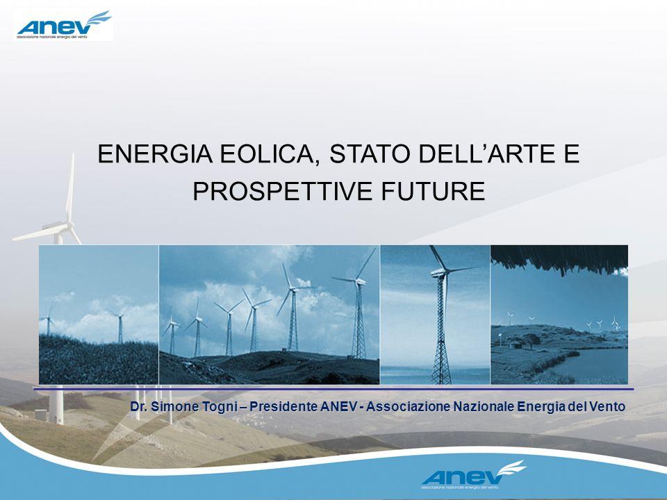 ENERGIA EOLICA, STATO DELL'ARTE E PROSPETTIVE FUTURE