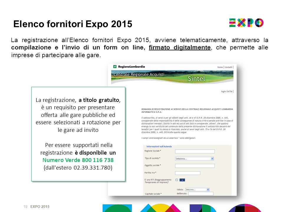 Elenco fornitori Expo 2015