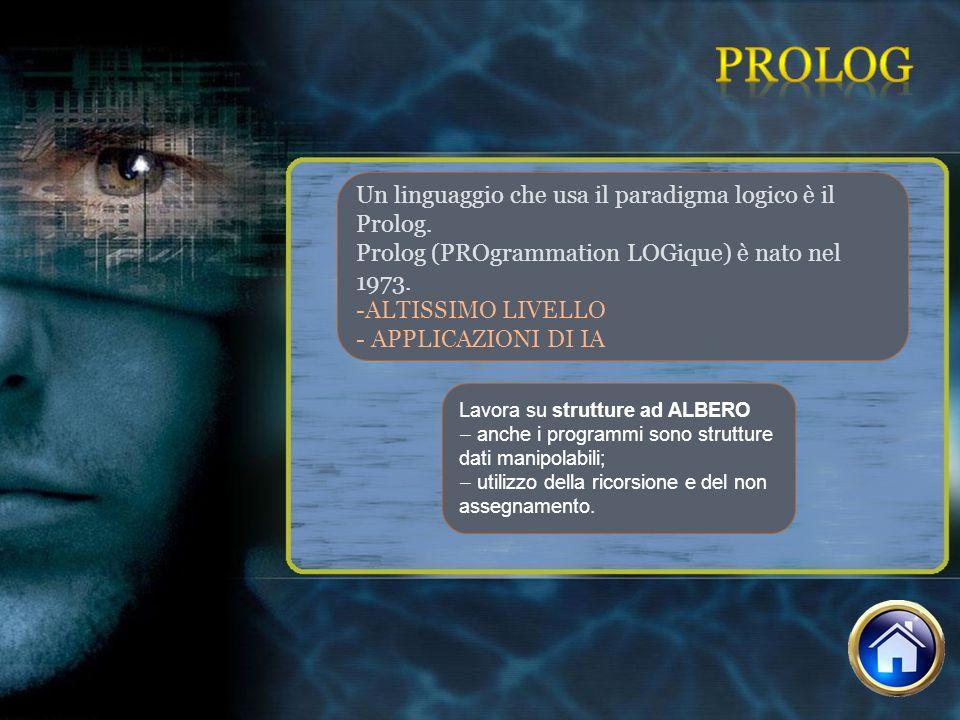 prolog Un linguaggio che usa il paradigma logico è il Prolog.