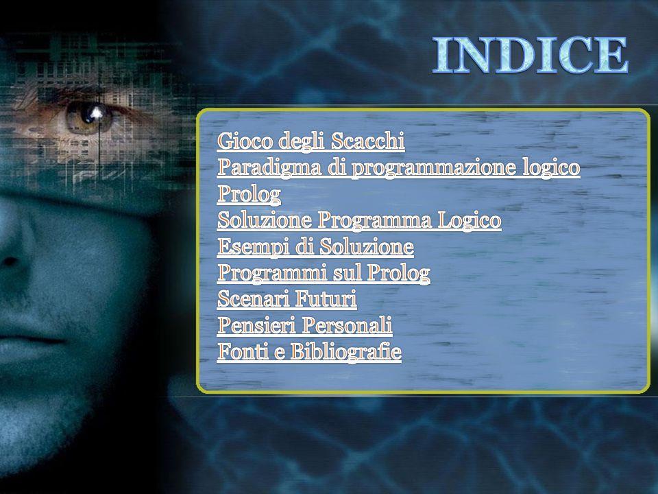 INDICE Gioco degli Scacchi Paradigma di programmazione logico Prolog