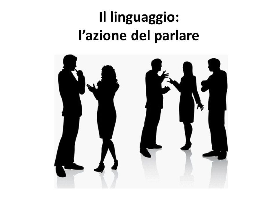 Il linguaggio: l'azione del parlare
