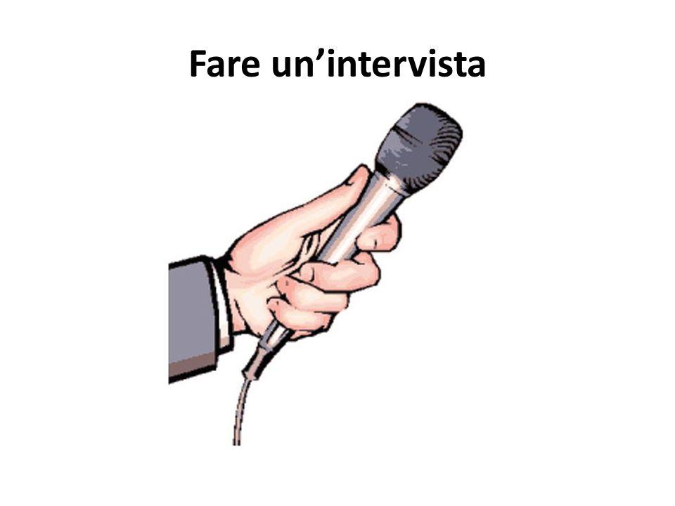 Fare un'intervista