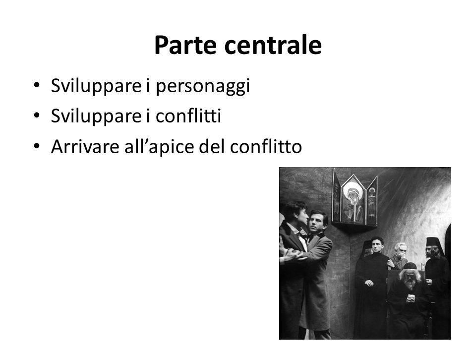 Parte centrale Sviluppare i personaggi Sviluppare i conflitti