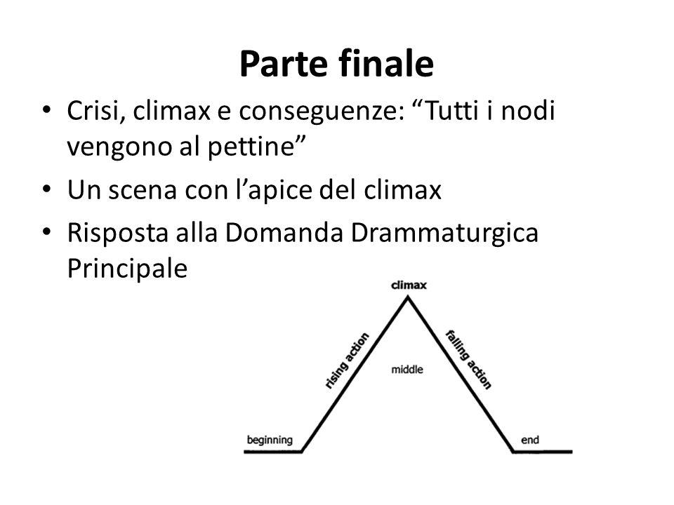 Parte finale Crisi, climax e conseguenze: Tutti i nodi vengono al pettine Un scena con l'apice del climax.