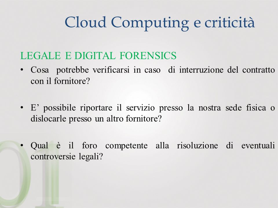 Cloud Computing e criticità