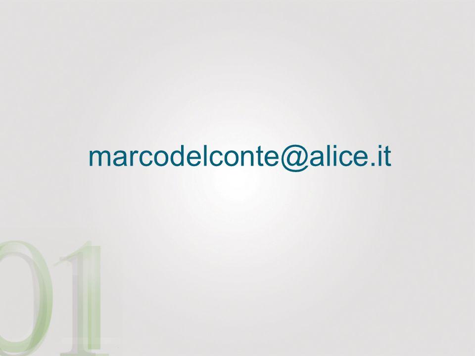marcodelconte@alice.it Ringrazio tutti i presenti per la cortese attenzione.
