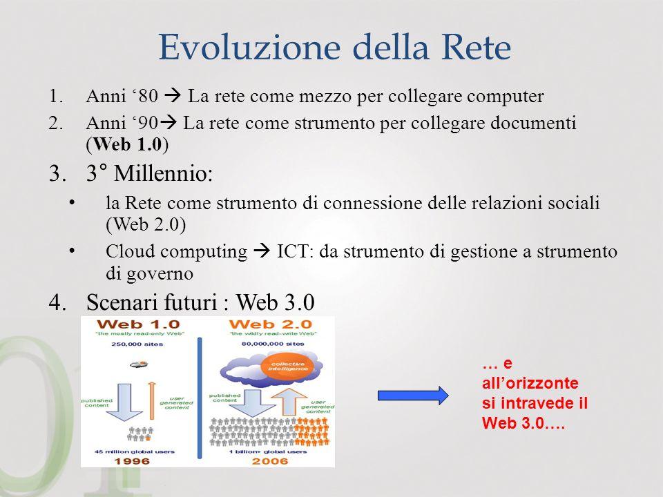 Evoluzione della Rete 3° Millennio: Scenari futuri : Web 3.0