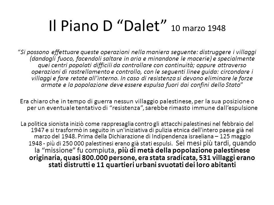 Il Piano D Dalet 10 marzo 1948