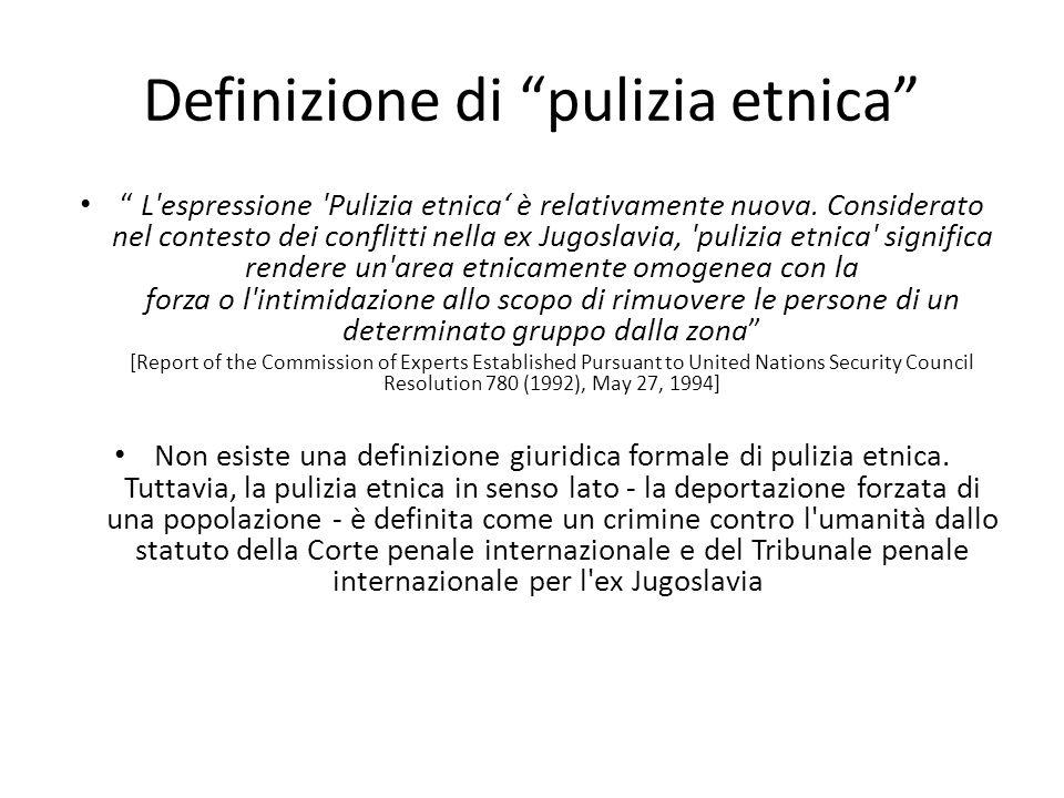 Definizione di pulizia etnica
