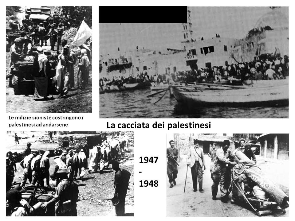 La cacciata dei palestinesi