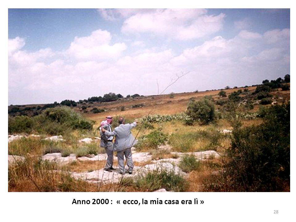 Anno 2000 : « ecco, la mia casa era lì »