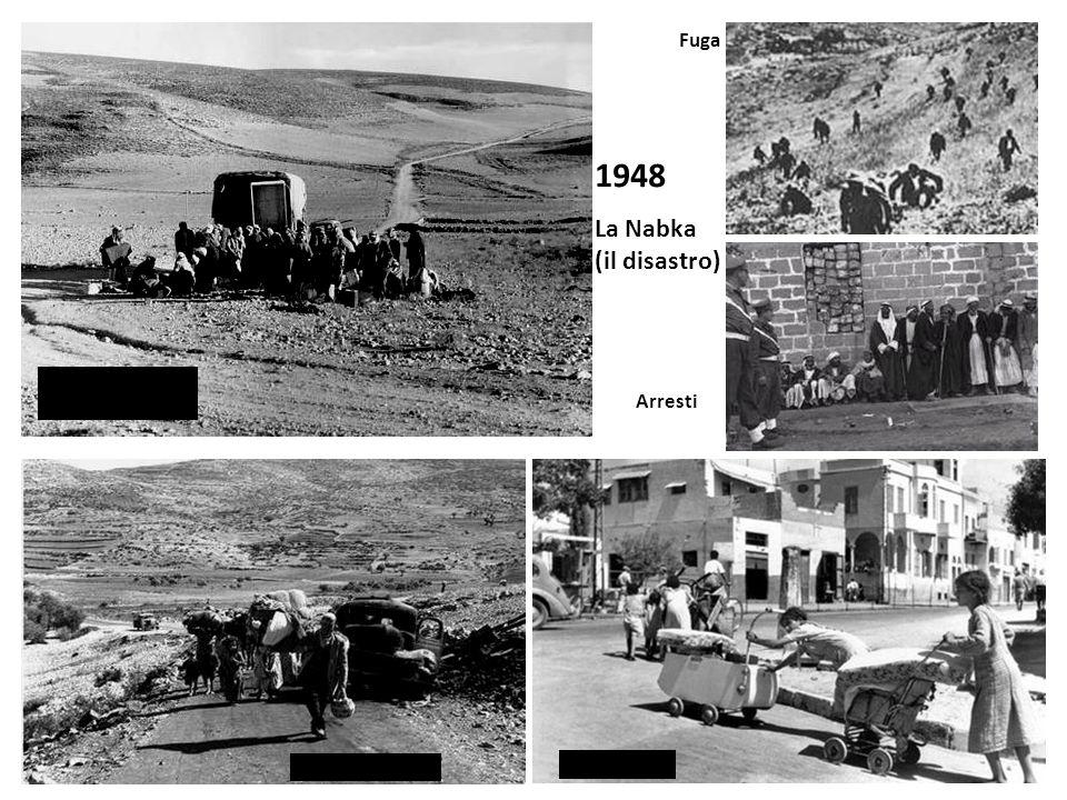 1948 La Nabka (il disastro) Fuga Arresti