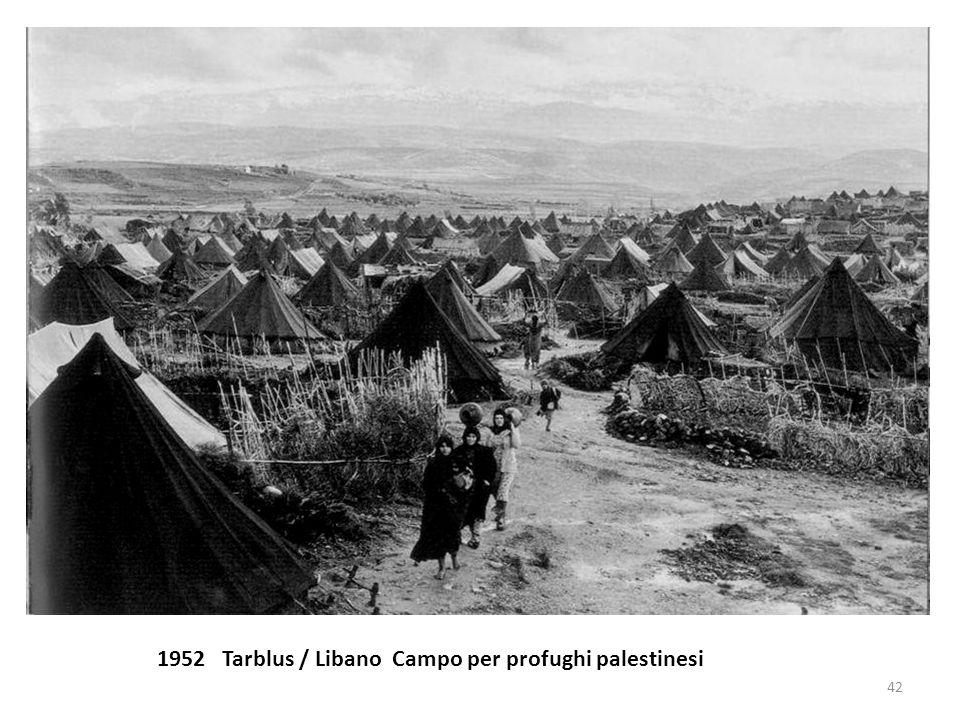 1952 Tarblus / Libano Campo per profughi palestinesi