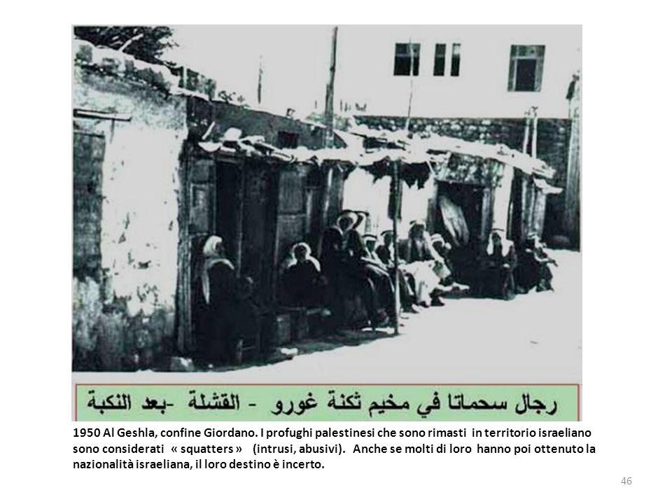 1950 Al Geshla, confine Giordano
