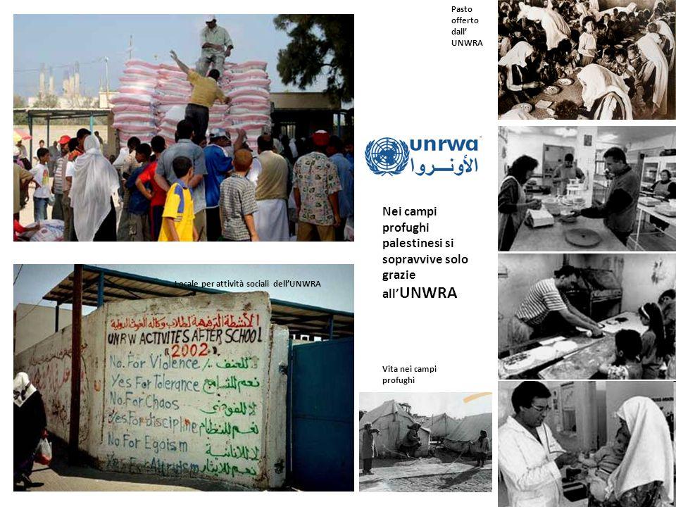 Nei campi profughi palestinesi si sopravvive solo grazie all'UNWRA