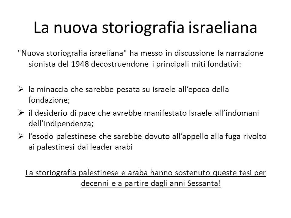 La nuova storiografia israeliana