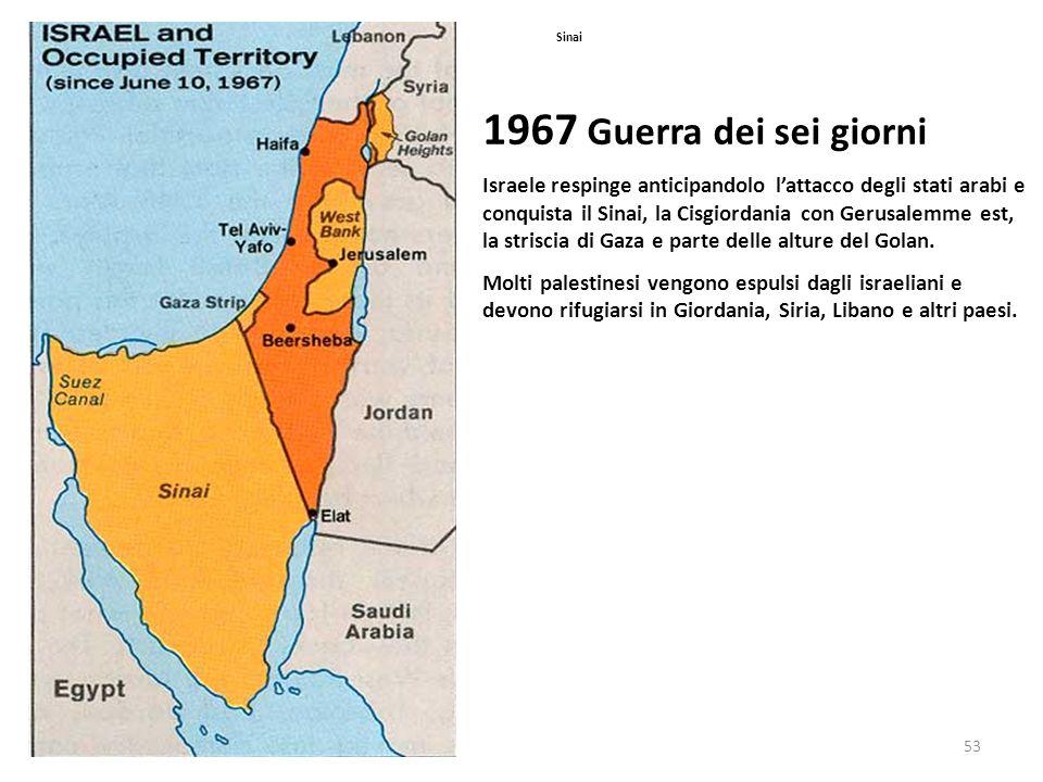 Sinai 1967 Guerra dei sei giorni.