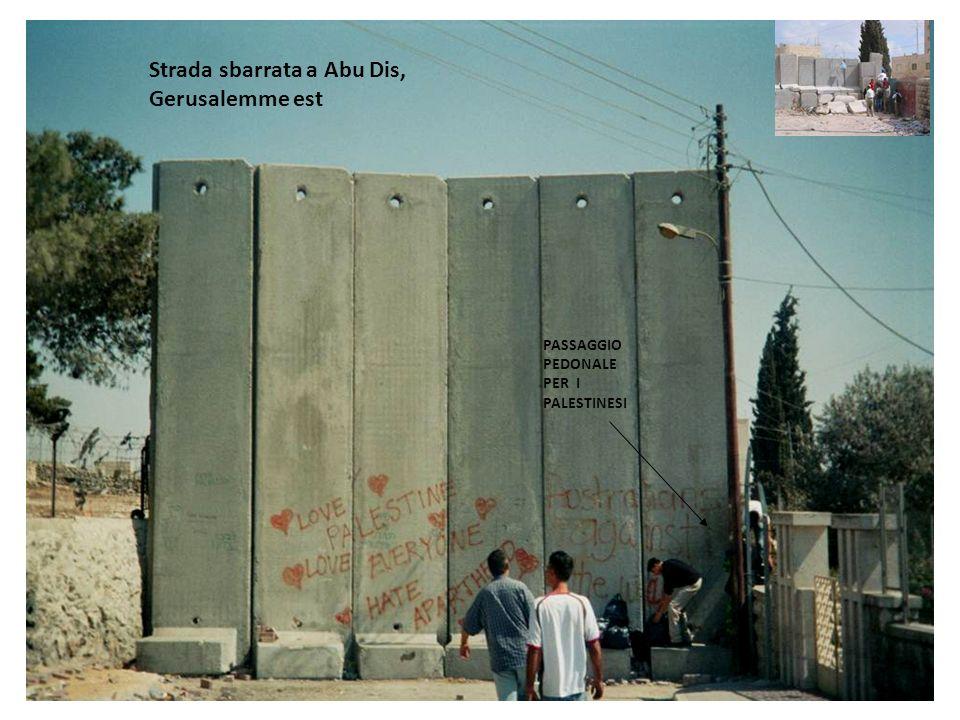 Strada sbarrata a Abu Dis, Gerusalemme est