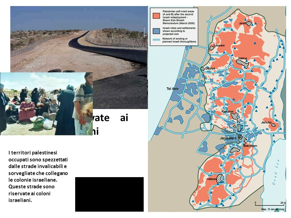 Le strade riservate ai coloni israeliani