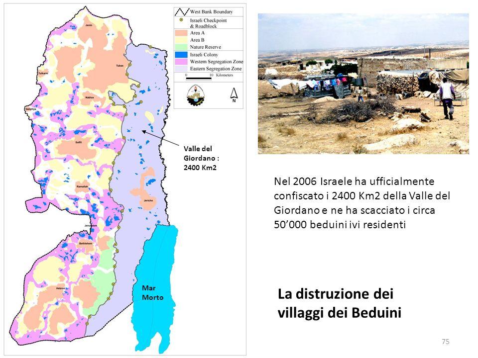 La distruzione dei villaggi dei Beduini