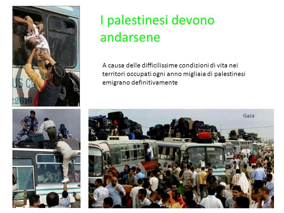 I palestinesi devono andarsene