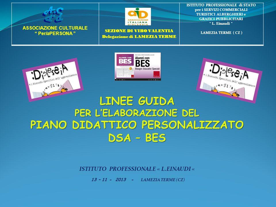 LINEE GUIDA PIANO DIDATTICO PERSONALIZZATO DSA – BES
