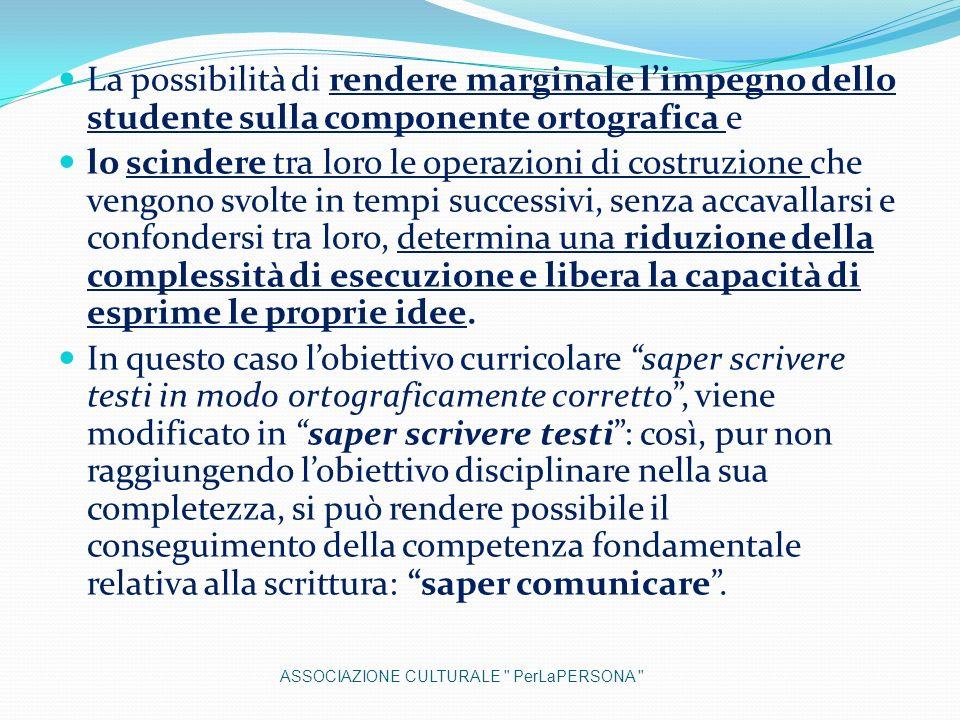 La possibilità di rendere marginale l'impegno dello studente sulla componente ortografica e