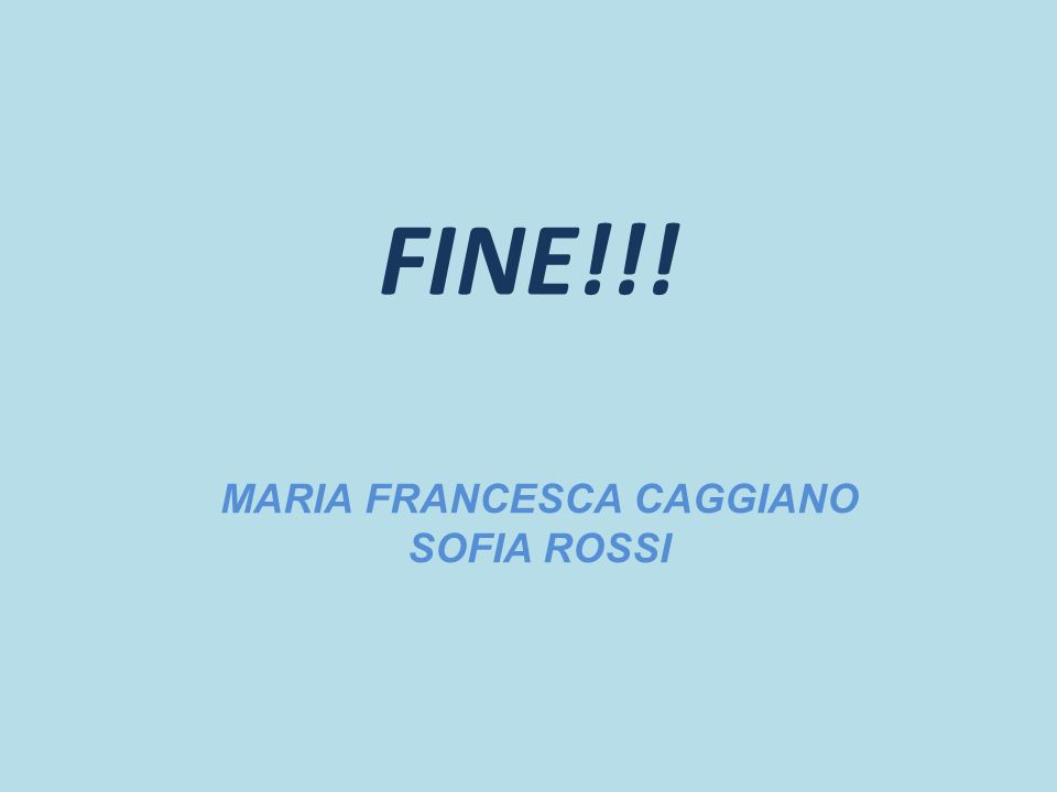 MARIA FRANCESCA CAGGIANO