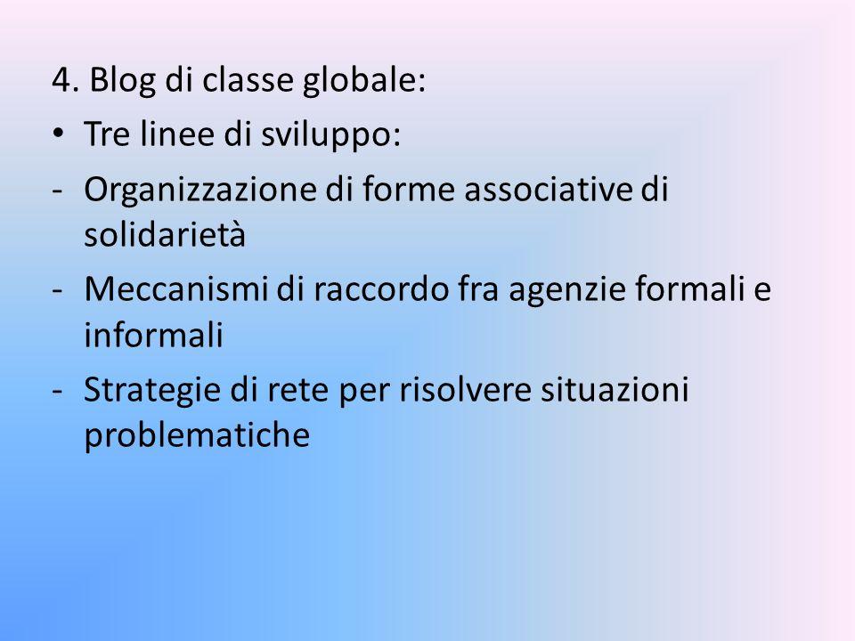 4. Blog di classe globale: