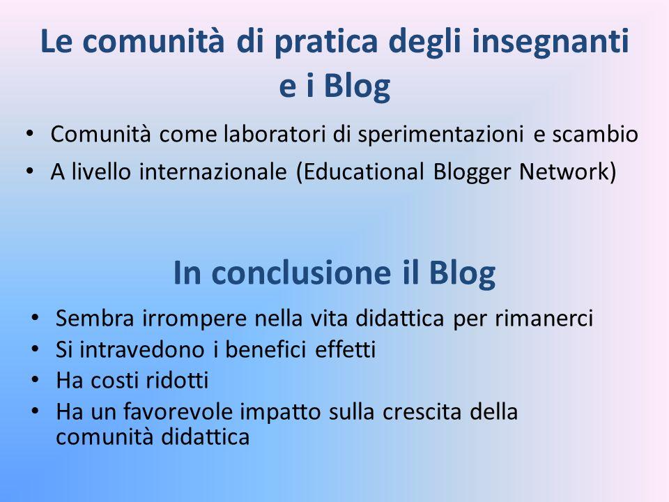 Le comunità di pratica degli insegnanti e i Blog