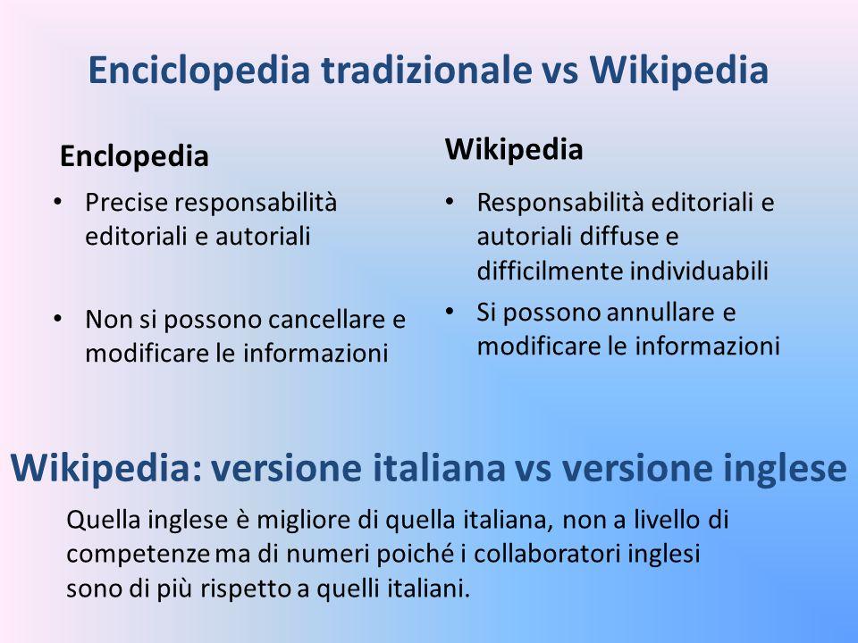 Enciclopedia tradizionale vs Wikipedia