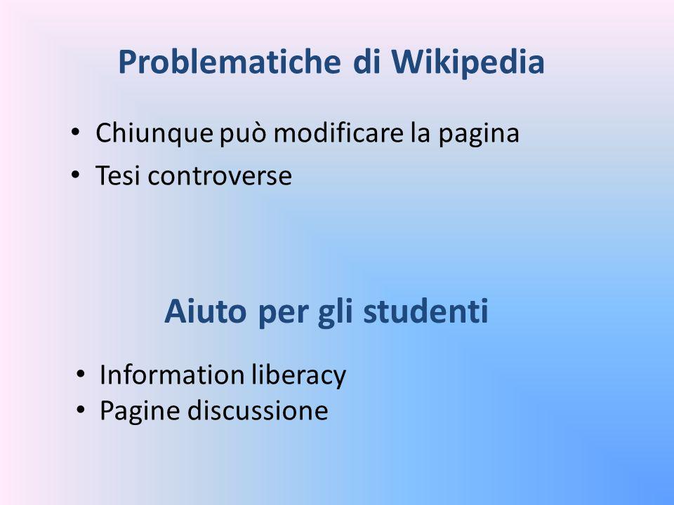 Problematiche di Wikipedia