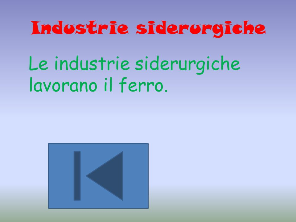 Industrie siderurgiche