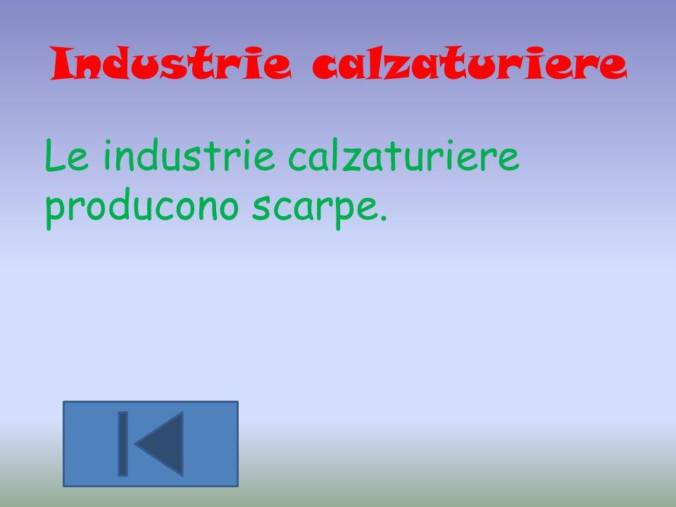 Industrie calzaturiere