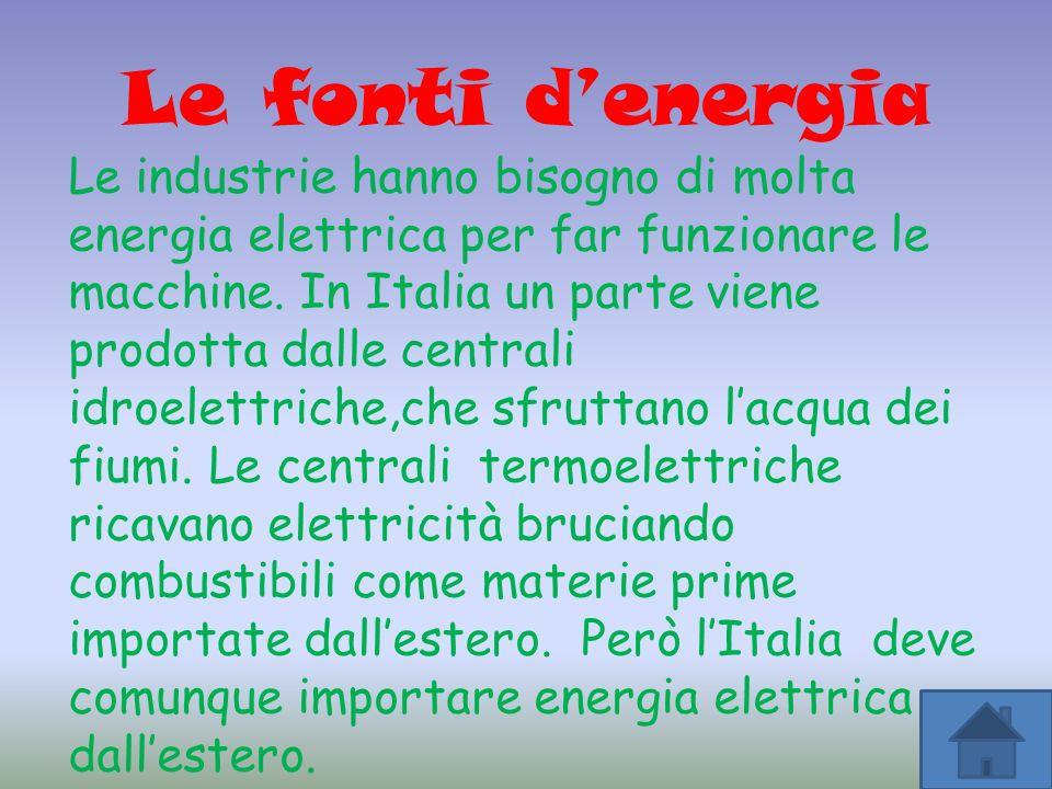 Le fonti d'energia