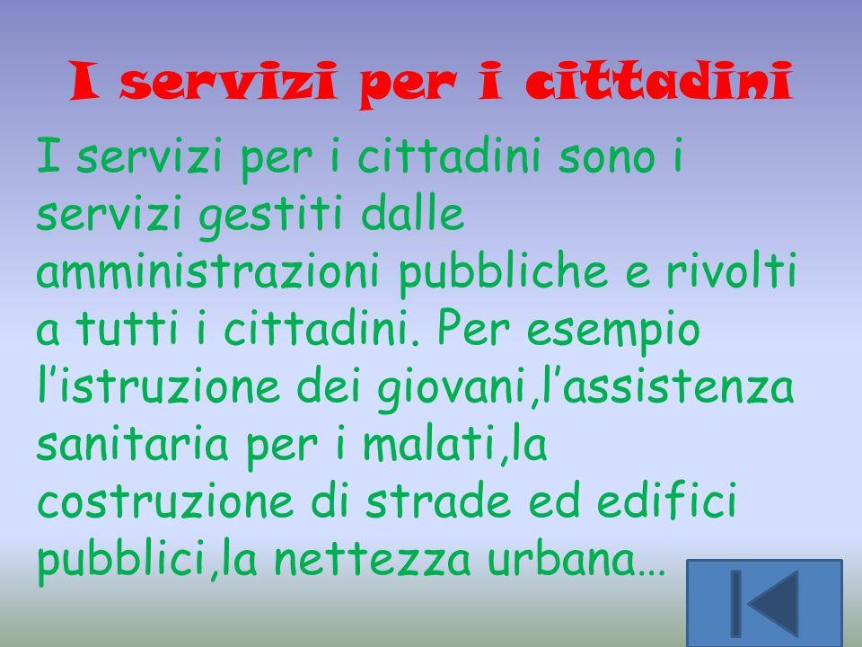 I servizi per i cittadini