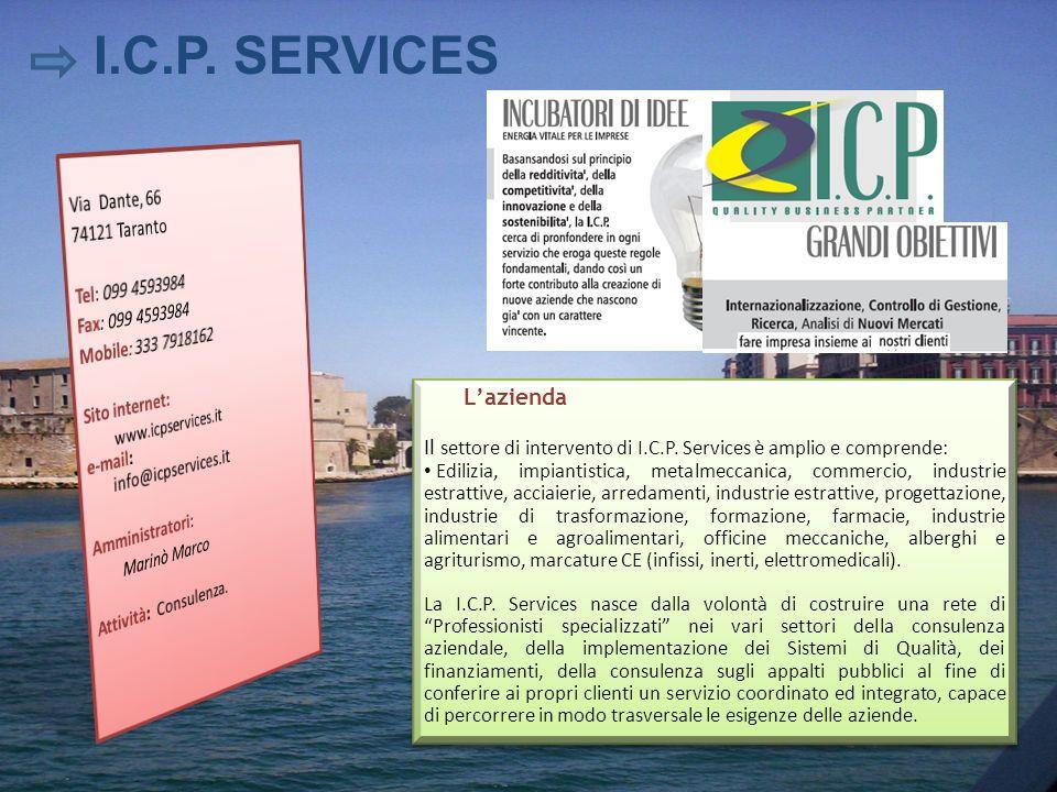 I.C.P. SERVICES L'azienda