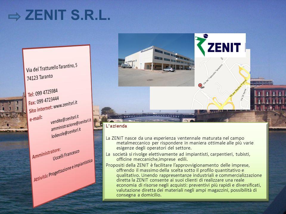 ZENIT S.R.L. Via del Tratturello Tarantino, 5 74123 Taranto