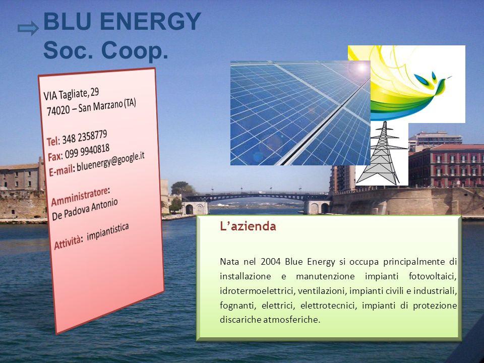 BLU ENERGY Soc. Coop. L'azienda VIA Tagliate, 29