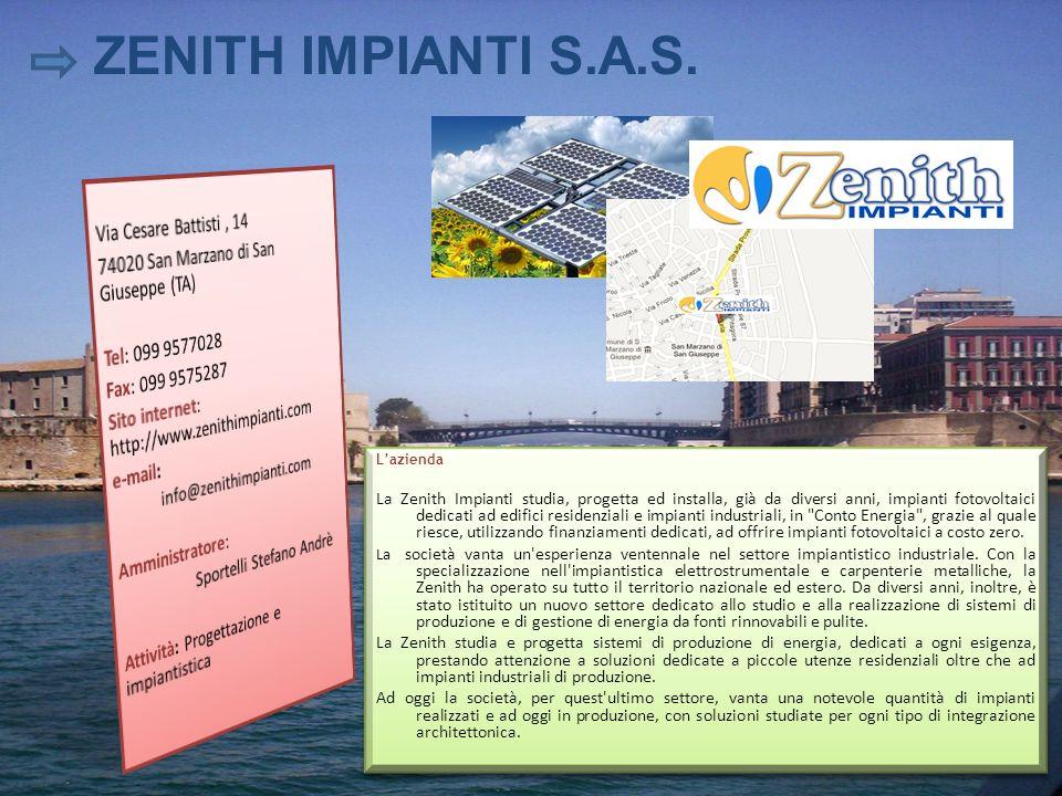 ZENITH IMPIANTI S.A.S. Via Cesare Battisti , 14