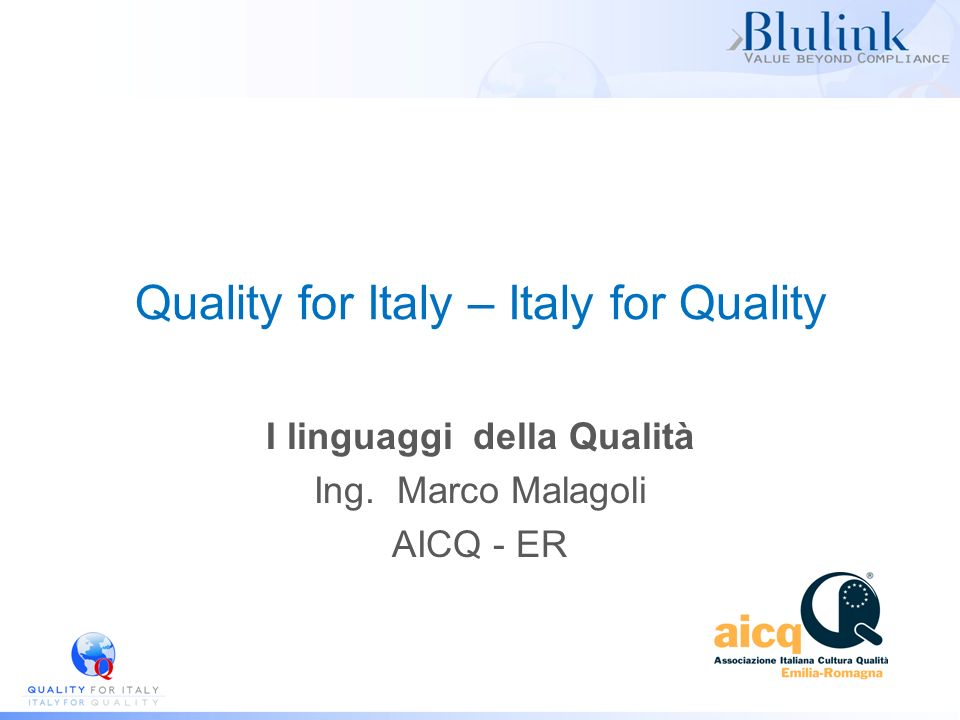 Quality for Italy – Italy for Quality
