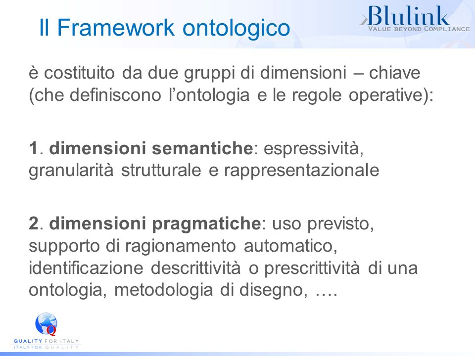 Il Framework ontologico