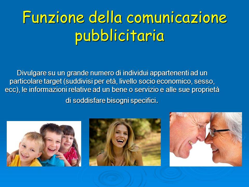 Funzione della comunicazione pubblicitaria