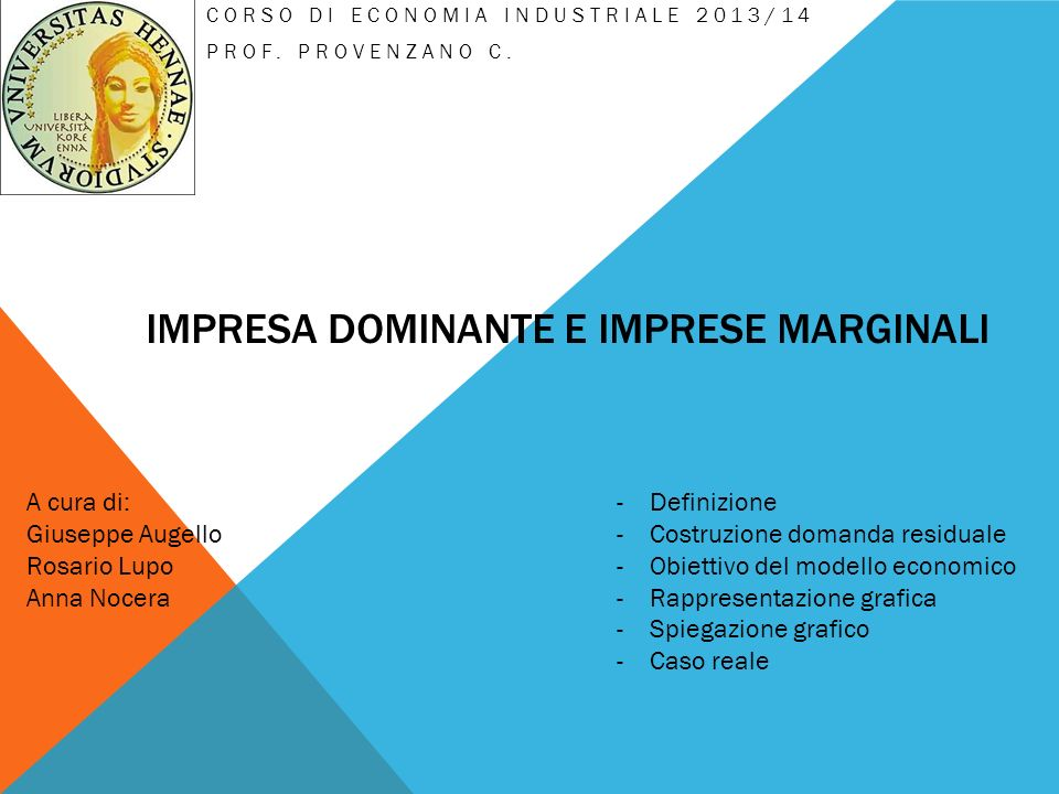 Impresa dominante e imprese marginali