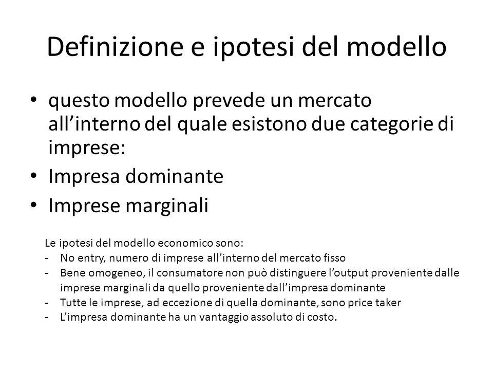 Definizione e ipotesi del modello