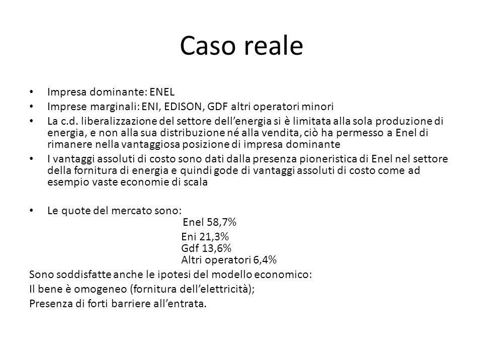 Caso reale Impresa dominante: ENEL