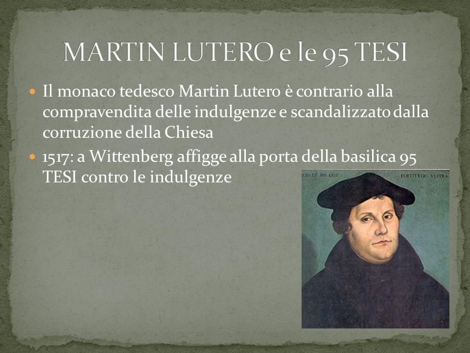 MARTIN LUTERO e le 95 TESI
