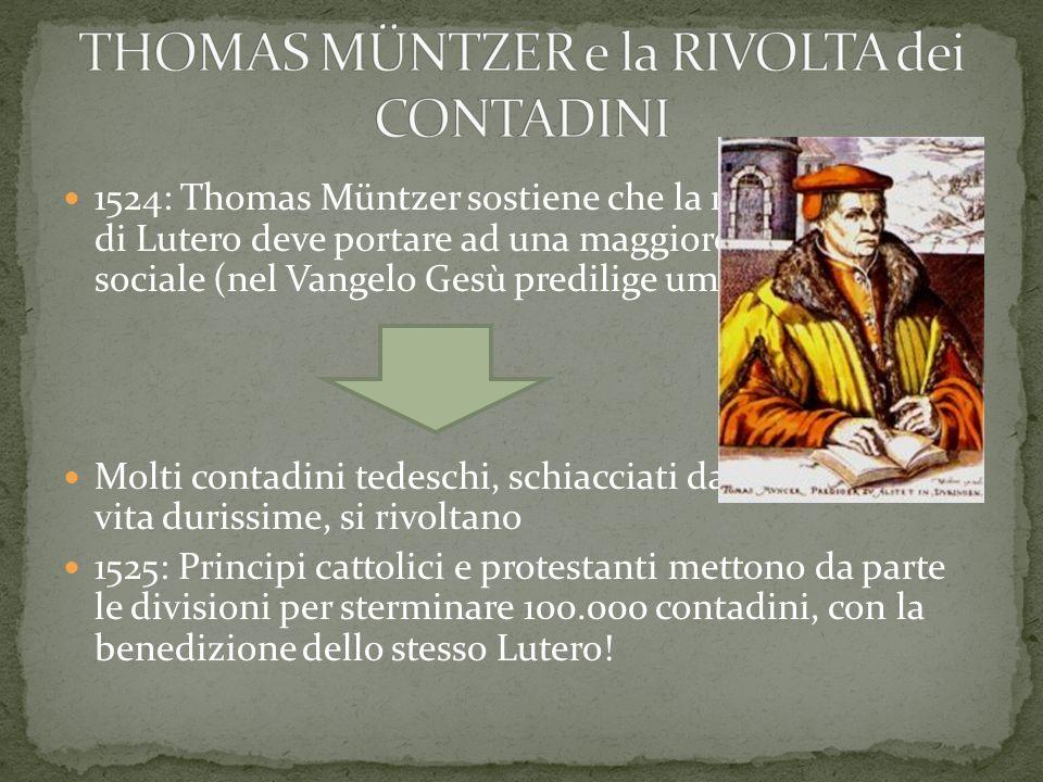 THOMAS MÜNTZER e la RIVOLTA dei CONTADINI