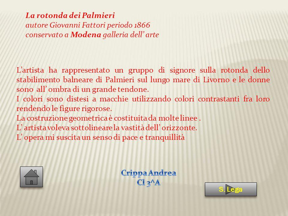 La rotonda dei Palmieri autore Giovanni Fattori periodo 1866
